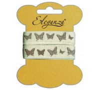 Eleganza Craft Elegant Butterfly Natural Linen 15mm x 2m