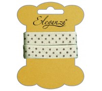 Eleganza Craft Polka Dot Natural Linen 15mm x 2m