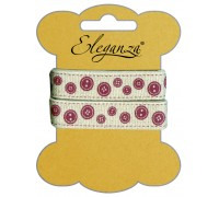 Eleganza Craft Spotted Buttons Natural Linen 15mm x 2m