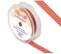 Eleganza Gingham Classic 15mm x 25m Red No.16