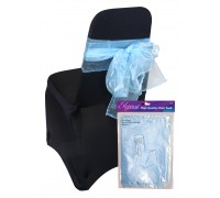 Eleganza Sheer Organza Chair Sash 3mx27cm Lt. Blue No.25