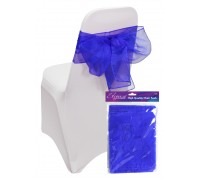 Eleganza Sheer Organza Chair Sash 3mx27cm Royal Blue No.18