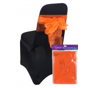 Eleganza Sheer Organza Chair Sash 3mx27cm Orange No.04