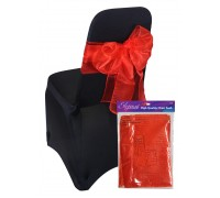 Eleganza Sheer Organza Chair Sash 3mx27cm Red No.16