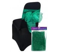 Eleganza Sheer Organza Chair Sash 3mx27cm Green No.50