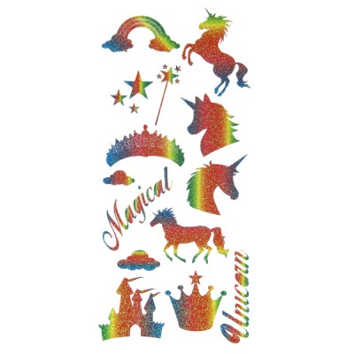 Unicorn Rainbow Craft Stickers