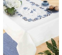 Blue Flower 130x160cm Printed Tablecloth