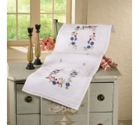 Blue Pansy 40x100cm Printed Table Runner