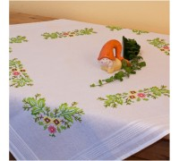 Floral 80x80cm Printed Tablecloth Kit