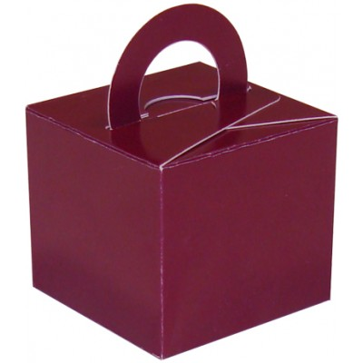 Balloon/Gift Box Burgundy x 10pcs