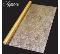 Eleganza Sheer ORGANZA 70cm x 10 m Printed Gold Bullion