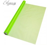 Eleganza Sheer Organza 70cm x 10m No.14 Lime Green