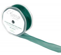 Eleganza Finesse Wired Ribbon 32mm x20m Green No.50