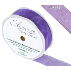 Woven Edge Sheer Ribbon