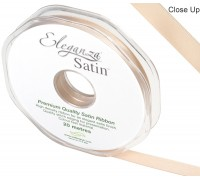 Eleganza Double Faced Satin 10mm x 20m Champagne Gold No.64