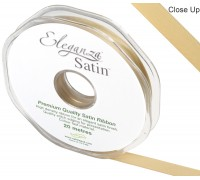 Eleganza Double Faced Satin 10mm x 20m Gold No.35