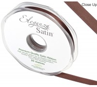 Eleganza Double Faced Satin 10mm x 20m Chocolate No.58
