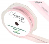 Eleganza Chic 25mm x 10m Lt Pink No.21