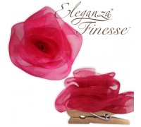 Eleganza Finesse Clip Roses Deep Cerise No.30 (Pack of 4)