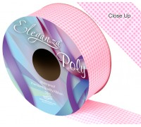 Eleganza Poly 50mm x 50m Gingham Lt. Pink No.21