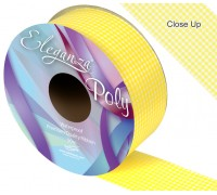 Eleganza Poly 50mm x 50m Gingham Yellow No.11