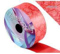 Eleganza Poly 50mm x 50m Elegant rose Print Red