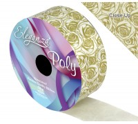 Eleganza Poly 50mm x 50m Elegant rose Print Gold