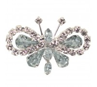 Eleganza Brooches Diamante Butterfly 35mmx50mm pack 3pcs