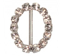 Eleganza Diamante Buckles Oval inner/outer size 15mm/17x20mm pack/6pcs