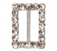 Eleganza Diamante Buckles rectangle inner/outer size 15mm/15x22mm pack/6pcs