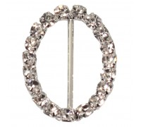 Eleganza Diamante Buckles Oval inner/outer size 25mm/24x33mm pack/4pcs