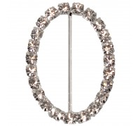 Eleganza Diamante Buckles Oval inner/outer size 45mm/39x55mm pack/1pc