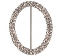 Eleganza Diamante Buckles Double Oval inner/outer size 50mm/50x65mm pack/1pc