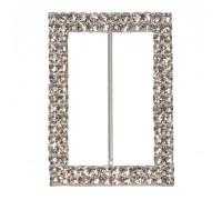 Eleganza Diamante Buckles Double Rectangle inner/outer size 50mm/45x65mm pack/1pc