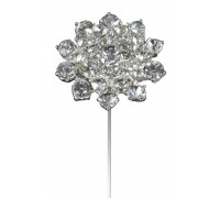 Classic Diamante Flower Wire Pick 45mm x 8 1pc
