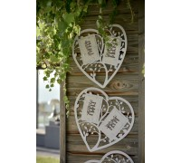 Heart Seating Plan 38 x 35.5cm