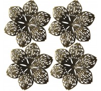 METAL FLOWER IN BLISTER PACK 4pcs