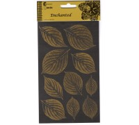 X LEAF STICKER SHEETS 1 GOLD 1 SILVER