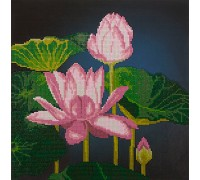 Blooming Lotuses Diamond Painting Kit