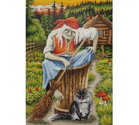Baba Yaga And Her Cat Diamond Painting Kit ALVR-39 021