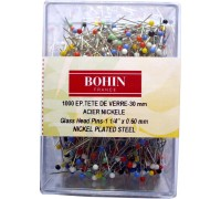 Glass Head Pins Assortment Box 1000