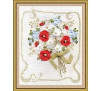 Compliments Counted Cross Stitch And Ribbon Embroidery Kit C-0775