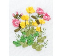 Buttercups And Lungwort Ribbon Embroidery Kit C-0940