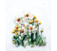 Daffodils And Buttercups Ribbon Embroidery Kit C-0941