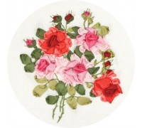 Beauty Of Roses Ribbon Embroidery Kit C-1181