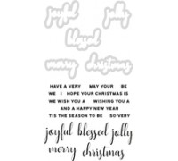 Christmas Greetings Stamp and Die Set