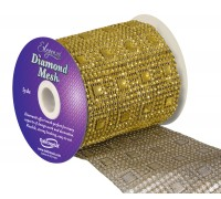 Diamond Mesh No. 351 11cm x 4.5m Gold No 35