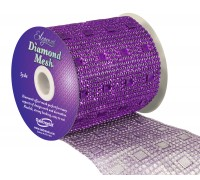 Diamond Mesh No. 351 11cm x 4.5m Purple No. 36