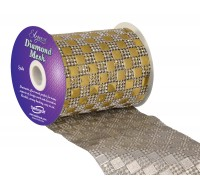 Diamond Mesh No. 350 11cm x 4.5m Gold No. 35
