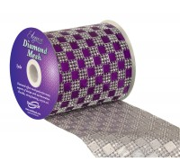 Diamond Mesh No. 350 11cm x 4.5m Purple No. 36
